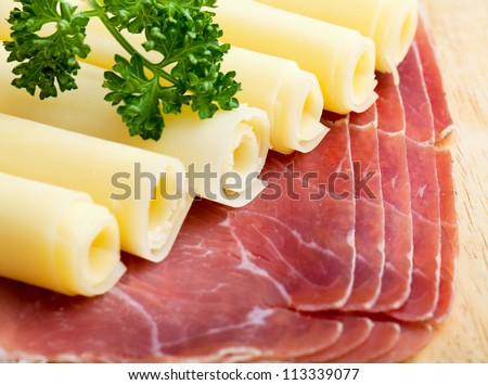cheese and italian speck