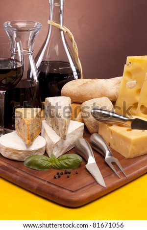 Cheese and wine composition