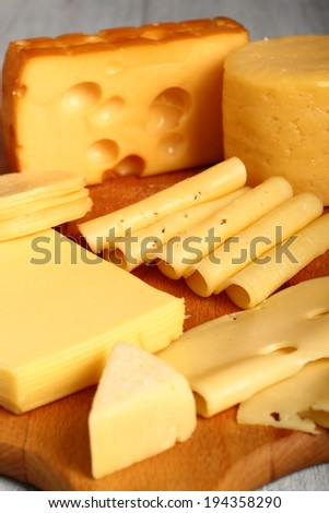 Cheese Assortments. Still Life.