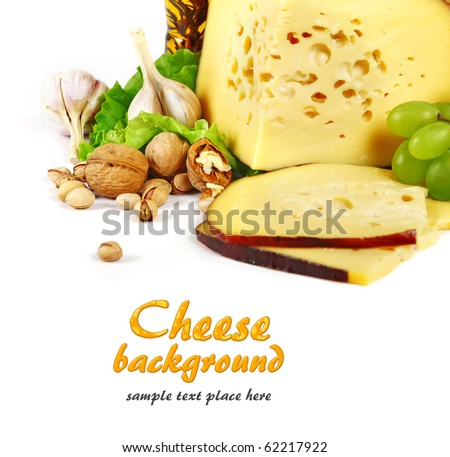 Cheese background - stock photo