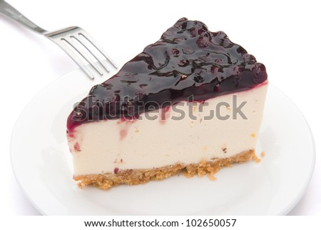 cheese cake with blue berry on top