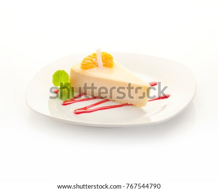 Cheese cake with tangerine