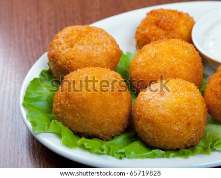 Cheese Croquettes Plate .studio shoton