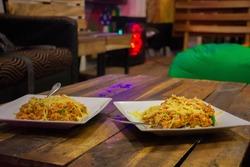 Cheese koththu sri lanka . tradtional food in sri lanka, popular diet