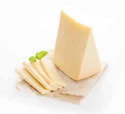 Cheese on a white background