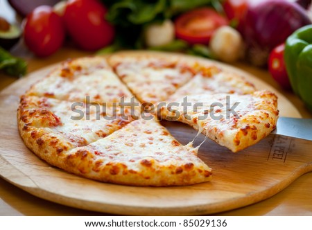 Cheese Pizza Lifted Slice