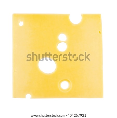 cheese slice isolated on a white background