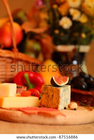 Cheese still life - stock photo