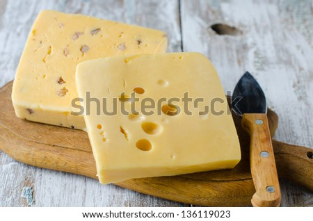 Cheese Truckle, selective focus