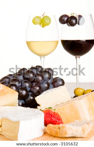 Cheese, wine and grapes (1)