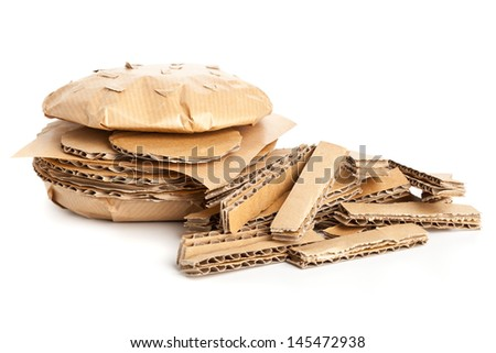 Cheeseburger and french fries made from from cardboard - unhealthy eating or fast food concept