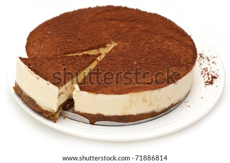 cheesecake isolated on a white background