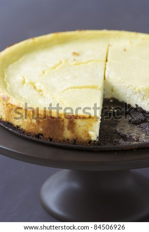 Cheesecake with an Oreo biscuit base