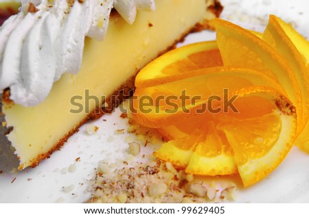 Cheesecake with orange