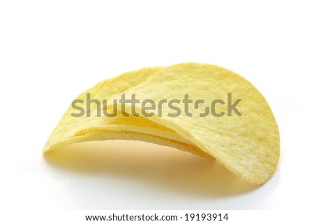 Cheesy chips in the white background, isolated.