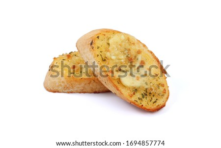 Cheesy Garlic Bread isolated on white background with clipping path. Stock photo ©