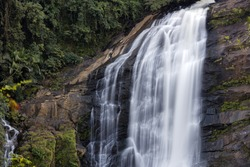 Cheeyappara Waterfalls, Munnar, Kerala, India , Circa October 2016