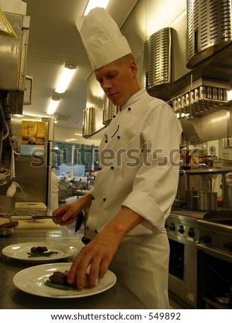 Chef au travail - stock photo
