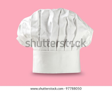 Chef hat or toque on pink