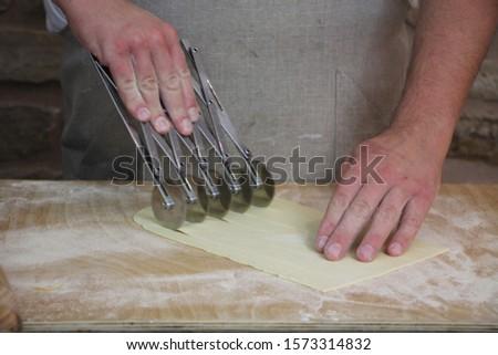 chef make fresh pasta handmade  #1573314832