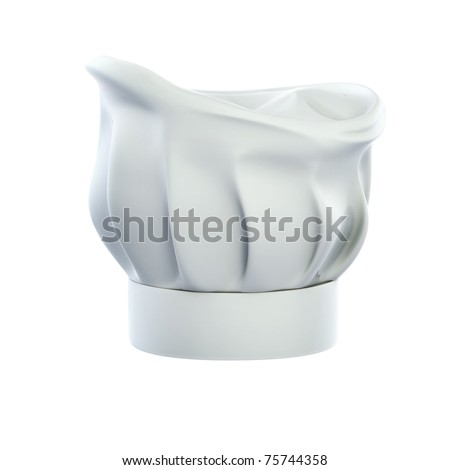 chef's hat, cook cap isolated on the white background 3d illustration