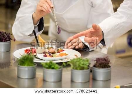 Chef teaching how to cook