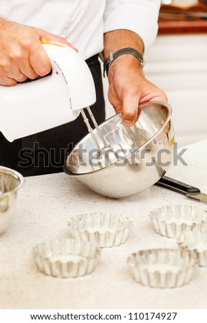 chef with mixer