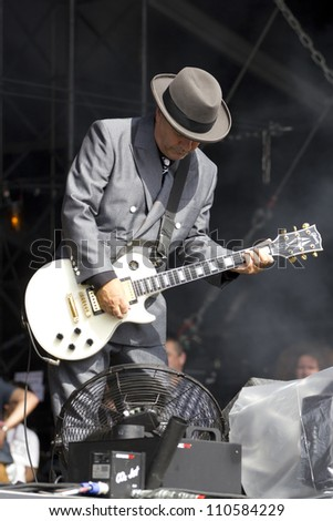 CHELMSFORD - AUG 19: Madness Performs at V Festival Chelmsford, AUG 19, 2012 in Chelmsford, UK - stock photo