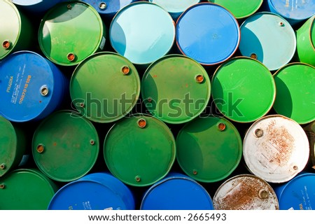 chemical barrels - stock photo