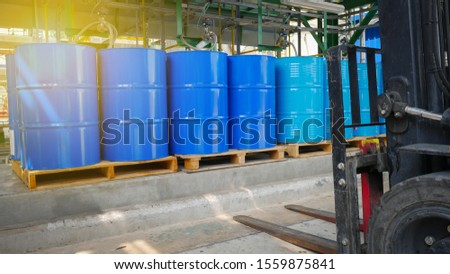 Chemical Barrels Tank in Chemical factory