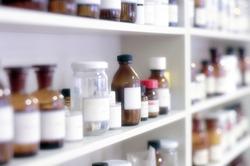 chemical bottles