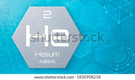 Chemical element of the periodic table - Helium Stock fotó ©