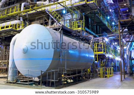 Chemical factory.The interior of the refinery.