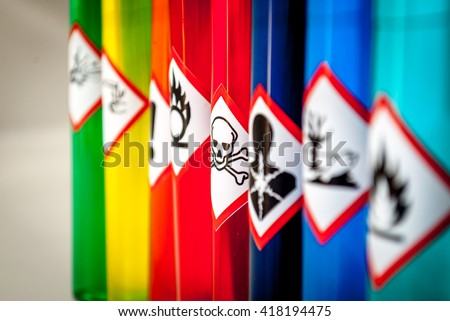 Shutterstock Chemical hazard pictograms Toxic focus