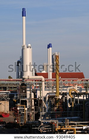 Chemical industry plant Photo of a modern chemical industry plant