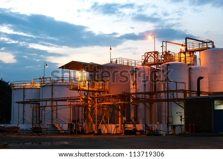Chemical Industry, Storage Tank In Industrial Plant