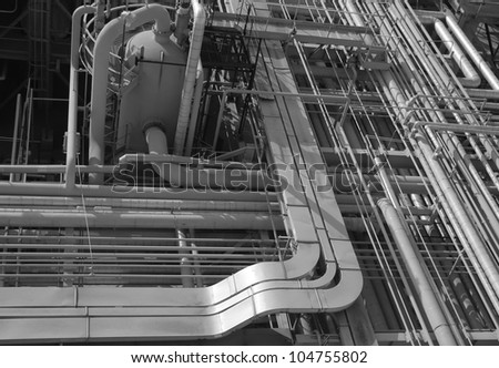 Chemical manufacturing plant construction