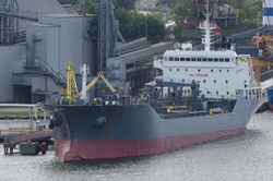 CHEMICAL OIL PRODUCTS TANKER - Ship at a terminal in a seaport
