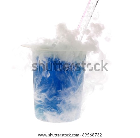 chemical reaction between CO2, H20 and NH3, also known as Carbon Dioxide, Water, and Ammonia. Isolated on white