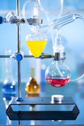 chemical setup for experiment