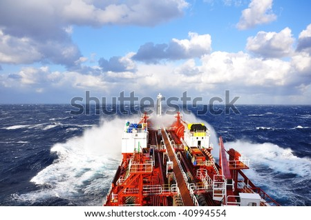 chemical ship at sea