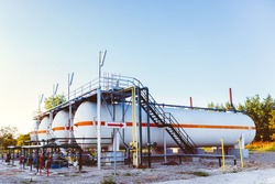 Chemical tank containers in Natural Gas factory