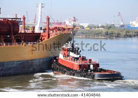 chemical tanker entering the port