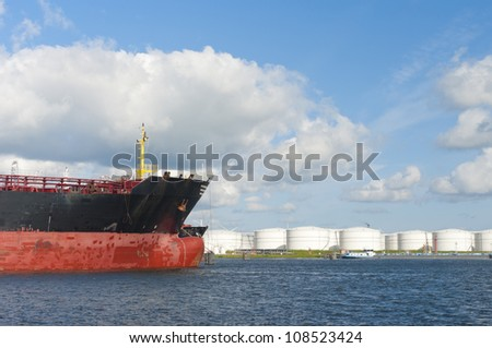 chemical tankers in amsterdam harbor
