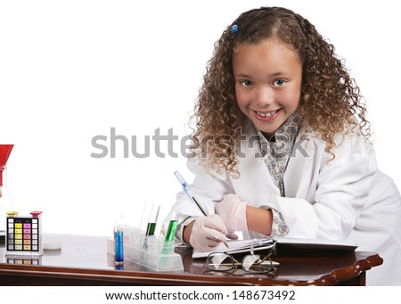 Chemist.  Isolated on white.  Room for your text.