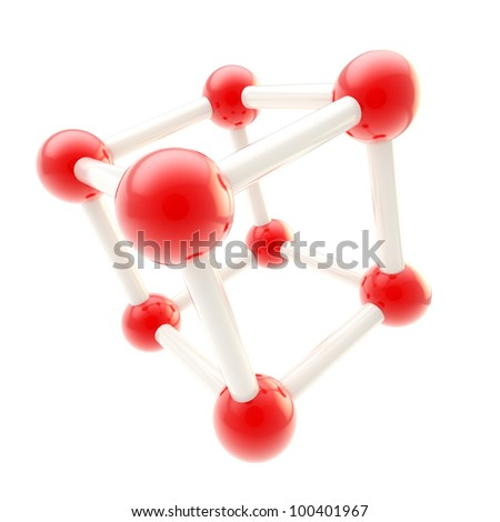 Chemistry and science symbol as atomic structure isolated on white - stock photo