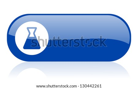 chemistry blue web glossy icon