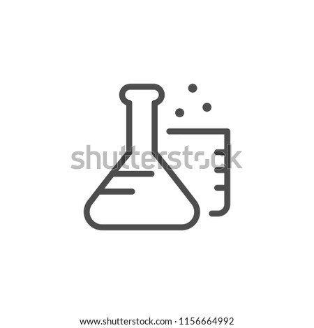 Chemistry line icon isolated on white