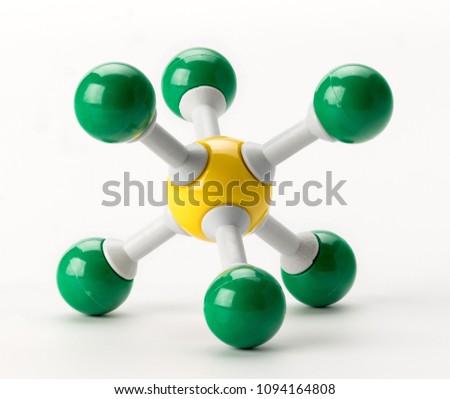 Chemistry Sulfur elemental molecule atom model #1094164808