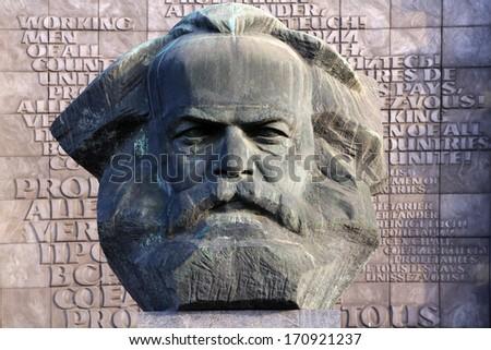 Shutterstock Chemnitz, Modern City at Saxony, Karl Marx monument